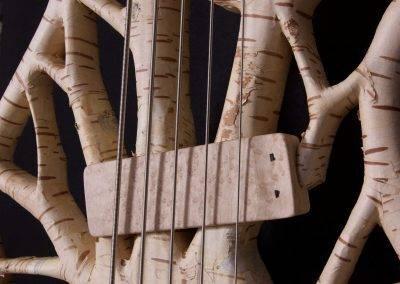 Rikkers Treeline Basgitaar Paper Birch