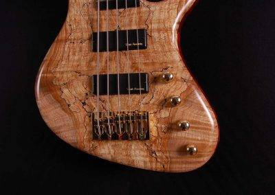 Rikkers basgitaar Spalted Hollowline