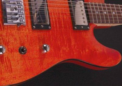 Rikkers Gitaar Telecaster Honduras Orange Achterkant voorkant body 2