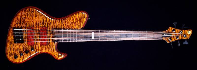 Rikkers Hollowline Quilted Maple 5-snaar